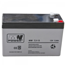 MW POWER Akumulator AGM 12V / 7.2Ah