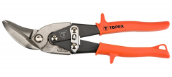 TOPEX 01A430 Nożyce do blachy 240 mm, odgięte lewe