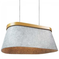 ZUMALINE FELTRI LAMPA WISZĄCA LAMP 2*E27 MAX 60W FELT SHADE WITH WOOD FRAME ON TOPMETAL CANOPY CO-315006XFC